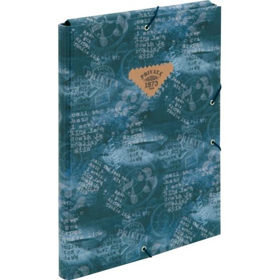 Carpeta folio con solapas y gomas