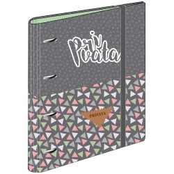 Ring binder with block with 80 sheets