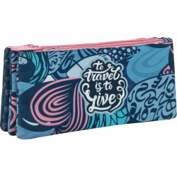 Independent 3 pockets pencil pouch