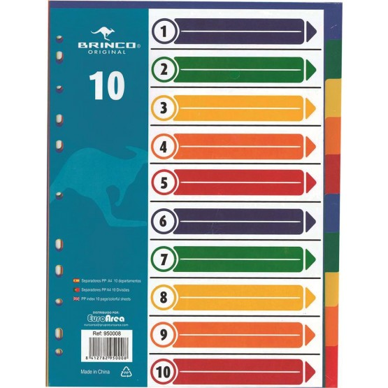 Pp Index 10 Pages Colorful Sheets Sportandem