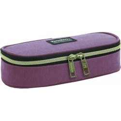 OVAL travel vanity case pencil pouch
