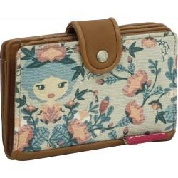 Clec and zipper wallet purse