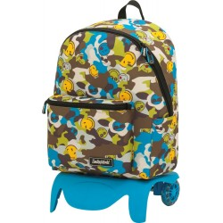 TEEN backpack with wheels (detachable trolley)